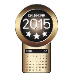 April calendar 2015 Fiber Background vector