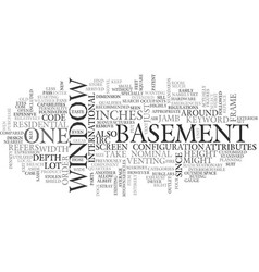 Basement window text word cloud concept vector