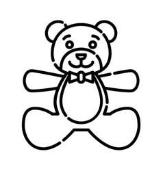 bateddy bear icon design clip art line icon vector image