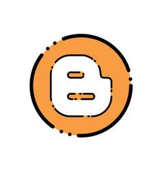 blogger icon design vector image