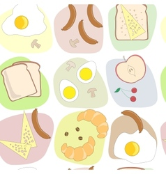 breakfast table seamless pattern vector image