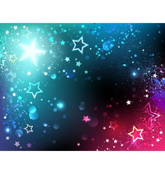 Bright Background with Stars vector image