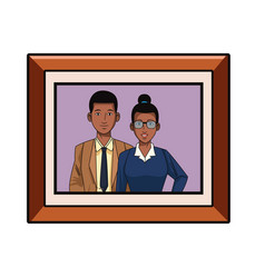 Business couple avatar profile picture in round vector