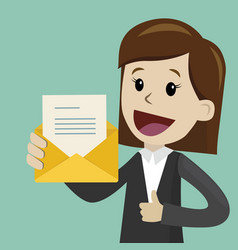 Businesswoman or manager has a lot of emails he vector