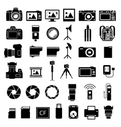 Camera Accessories Icons vector image