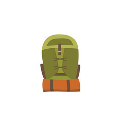 camping tourism or hiking backpack flat vector image