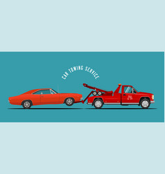 Car towing truck service vector