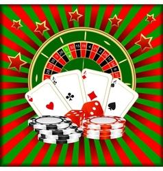 Casino games vector image