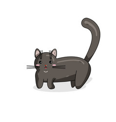 character of nebelung cat in kawaii style vector image
