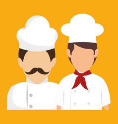 Chef avatars icon vector