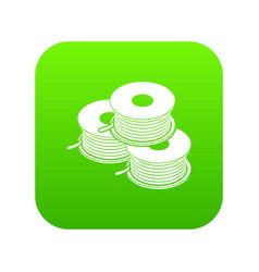 Coil for d printer icon green vector