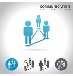 community blue icon vector image