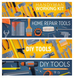 construction and repair tools banners vector image