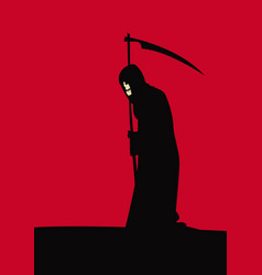 death is slowly moving on with its affairs vector image