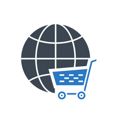 E-commerce solution glyph icon vector