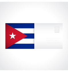 Envelope with Cuban flag card vector image