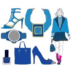 Fashion items on transparent background vector