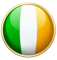 Flag ireland in round icon vector