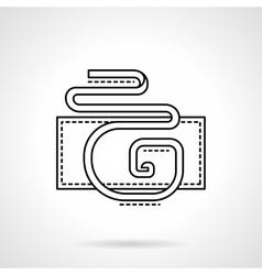 Flat line serpentine icon vector