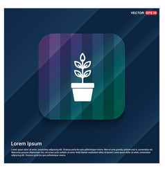 flower pot icon vector image