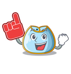 Foam finger baby bib isolated on the mascot vector