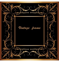 Frame with square ornament vector