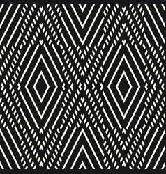 geometric seamless pattern black white graphic vector image