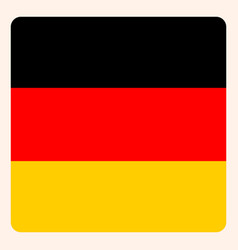 Germany square flag button social media vector
