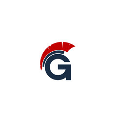 gladiator letter g logo icon design vector image