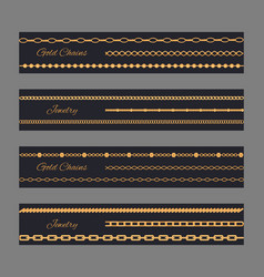 Gold chain jewelry poster vector