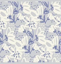 Hand drawn shabfloral seamless pattern vector