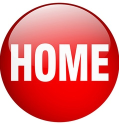 home red round gel isolated push button vector image