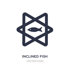 Inclined fish icon on white background simple vector