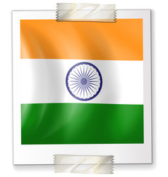 India flag design on paper vector