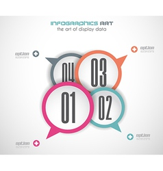 infographics concept background with stylish vector image