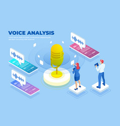 Isometric voice analysis and digital sound wave vector