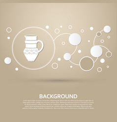 jug icon on a brown background with elegant style vector image
