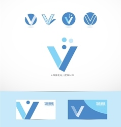 Letter V bubble circle logo icon vector image