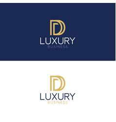 luxury logo d modern style vector image