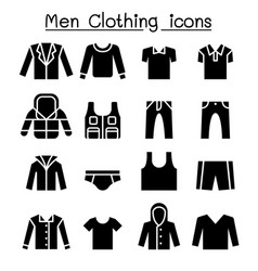 Man clothes icon set vector