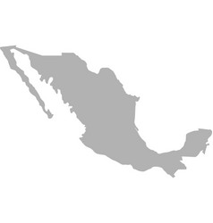 mexico map grey colored isolated on white vector image