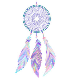Native dreamcatcher - traditional design vector