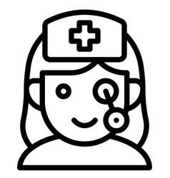 Nurse zombie avatar halloween costume icon vector