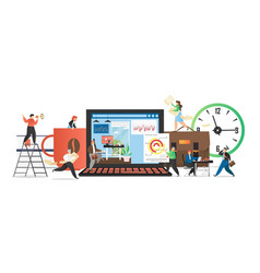 office people daily routine flat vector image