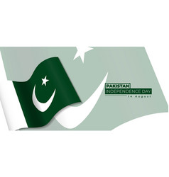 Pakistan independence day design with waving vector