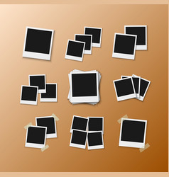 Photo frame realistic instant photo frame vector