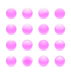 Pink round buttons vector image