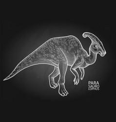 realistic graphic dinosaur vector image