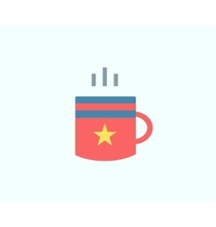 Red Cup icon isolated Tea objects or vector image