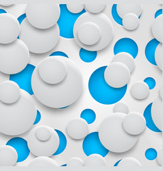 seamless pattern holes and circles with shadows vector image